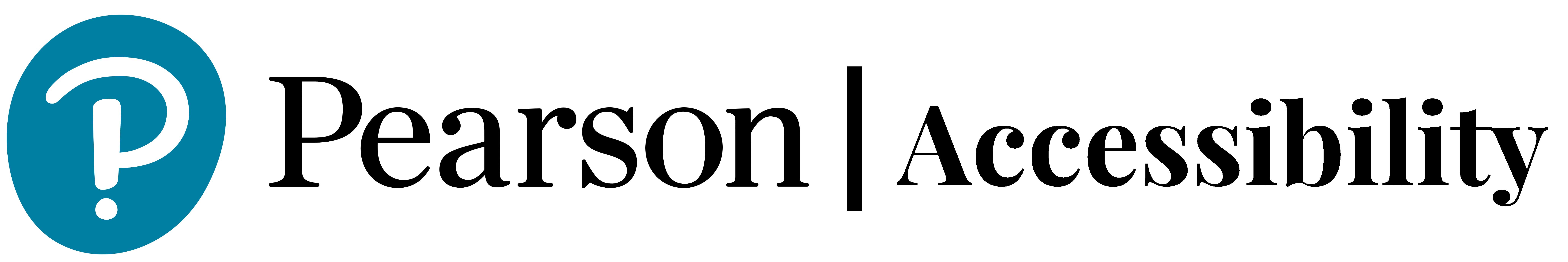 Pearson accessibility logo